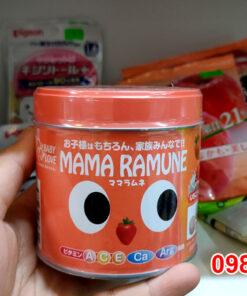 Kẹo cho trẻ biếng ăn Mama Ramune Nhật Bản lọ 200 viên