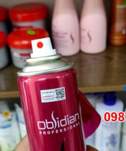 Chi tiết đầu xịt chai gôm xịt tạo kiểu tóc Obsidian Strong Hold Spray 300ml Hàn Quốc