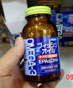 Lọ Dầu cá Omega 3, EPA & DHA Orihiro Nhật Bản hộp 180 viên