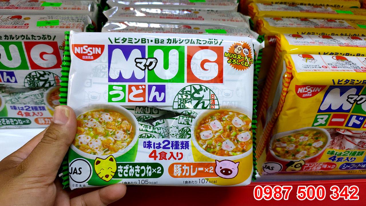 Mì Mug trắng Nissin Nhật