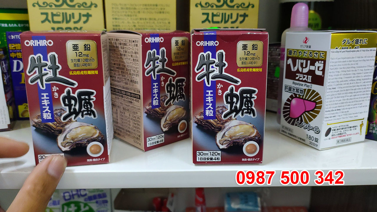 Xuất xứ từ Nhật Bản, Viên uống tinh chất hàu tươi Orihiro là sản phẩm bồi bổ sức khỏe, biếng ăn, bổ thận tráng dương, điều trị chứng rối loạn cương dương