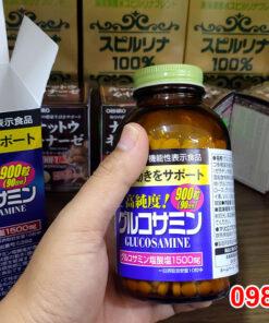 Trên tay Viên uống bổ Xương Khớp Glucosamin Orihiro 1500mg của Nhật loại 900 viên