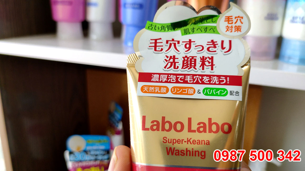 Sữa rửa mặt Labo Labo Super Keana Washing 120g có thành phần sạch 100% và có nguồn gốc từ thực vật