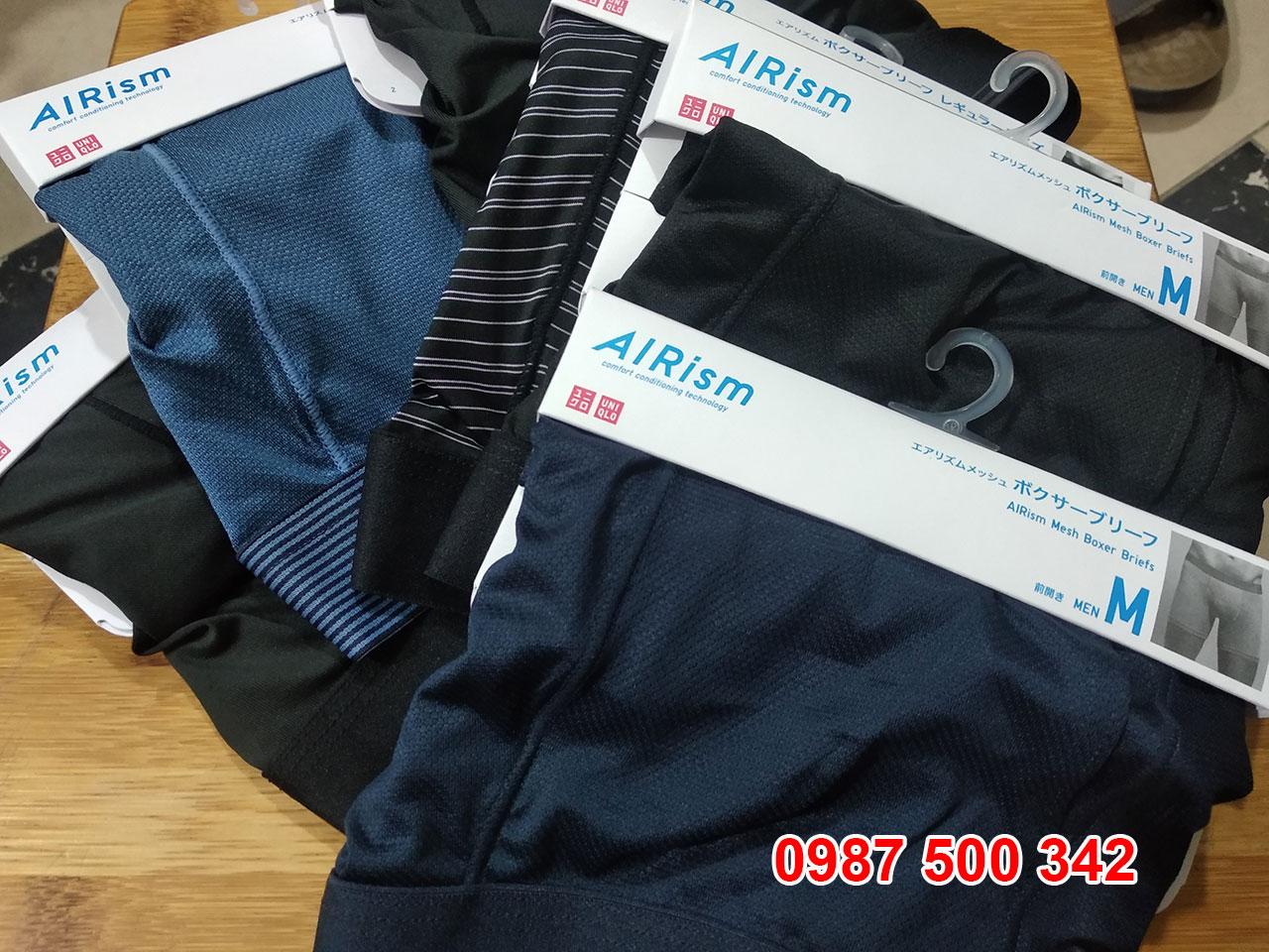 Bảng màu quần lót nam Uniqlo Nhật Bản các màu có sẵn