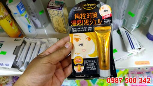 Kem lột mụn đầu đen Kose Softymo Hot Cleansing Gel 25g Nhật Bản