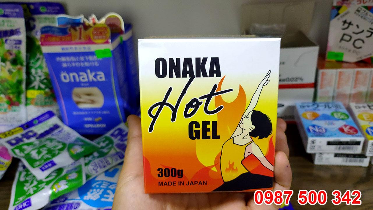 Gel tan mỡ Onaka Hot Gel 300g Nhật Bản