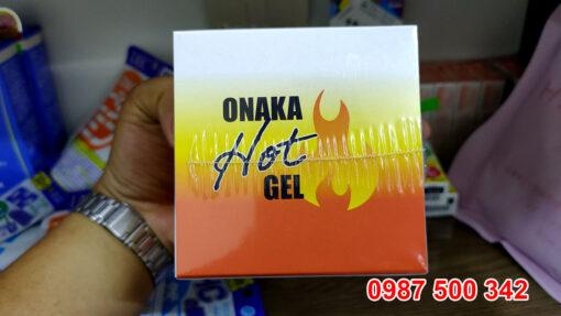 Gel tan mỡ Onaka Hot Gel của Nhật Bản chiết xuất từ các loại thảo dược thiên nhiên giúp làm nóng để tiêu hủy mỡ thừa sau 3-4 tuần