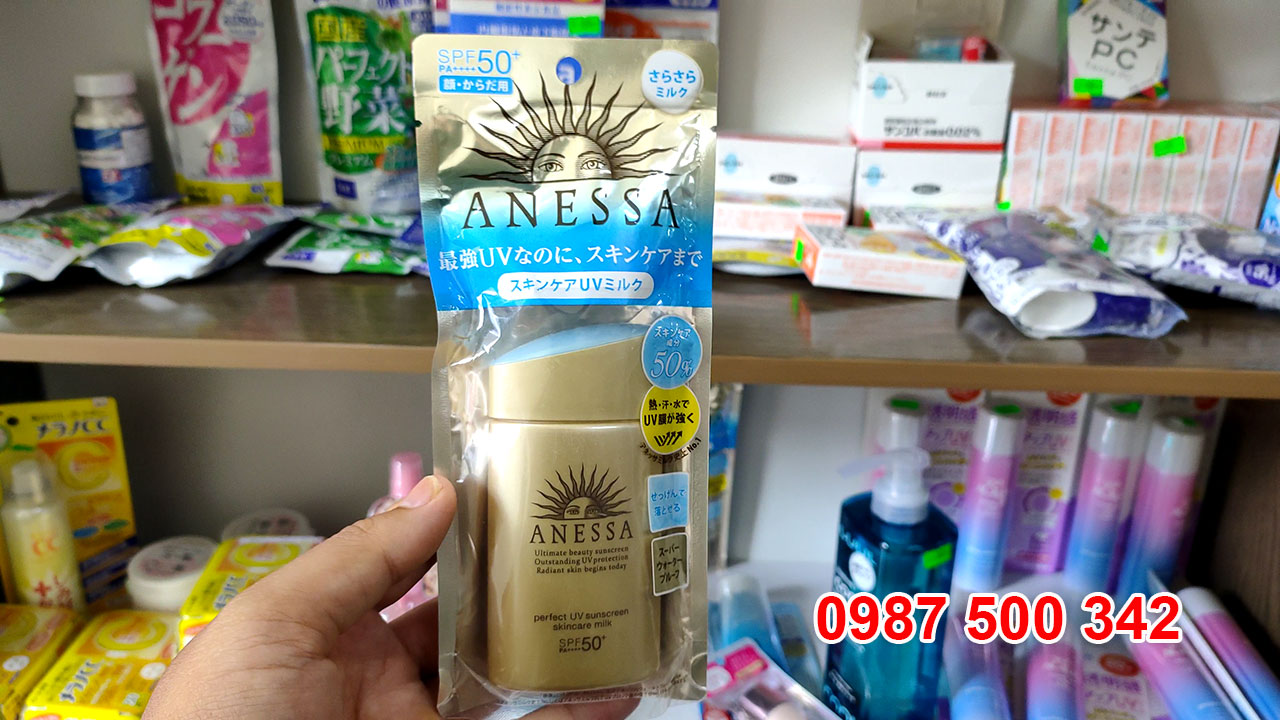 Kem Chống Nắng Anessa Perfect UV Sunscreen Skincare Milk Spf 50+ Pa++++ (60ml)