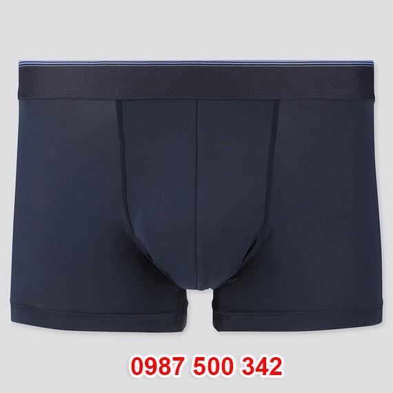 Quần lót nam Uniqlo AiRism Boxer Briefs màu xanh đen 69 NAVY 423535