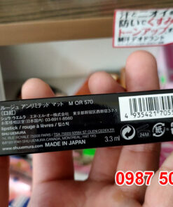 Son Shu Uemura M OR 570 Đỏ Cam Made in Japan