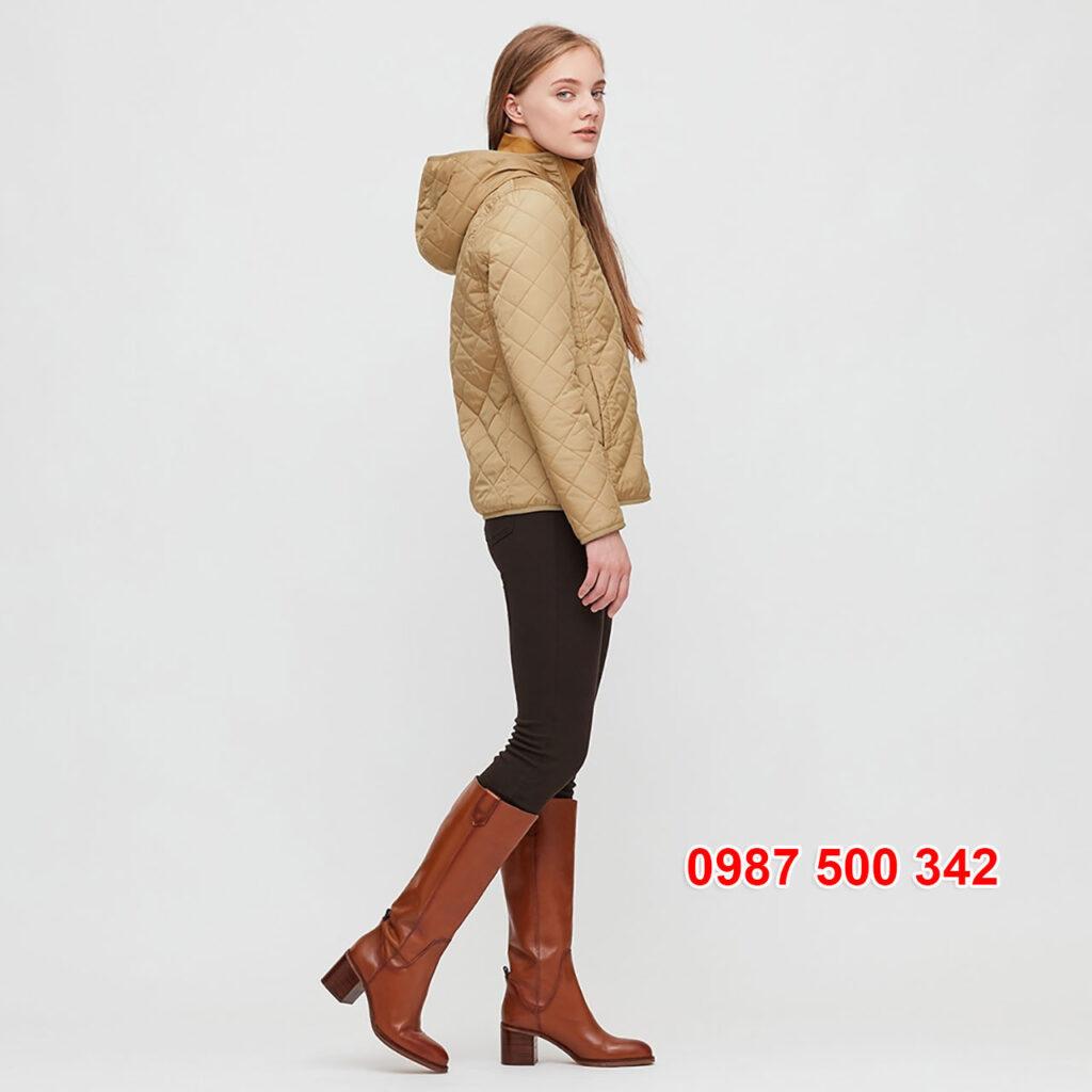 Review Áo khoác chần trám lót lông cừu Uniqlo 2020 - 2021 mã 432295