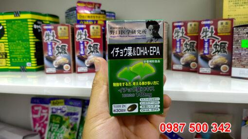 Viên uống bổ não DHA EPA Ginkgo Noguchi 60 viên Nhật Bản