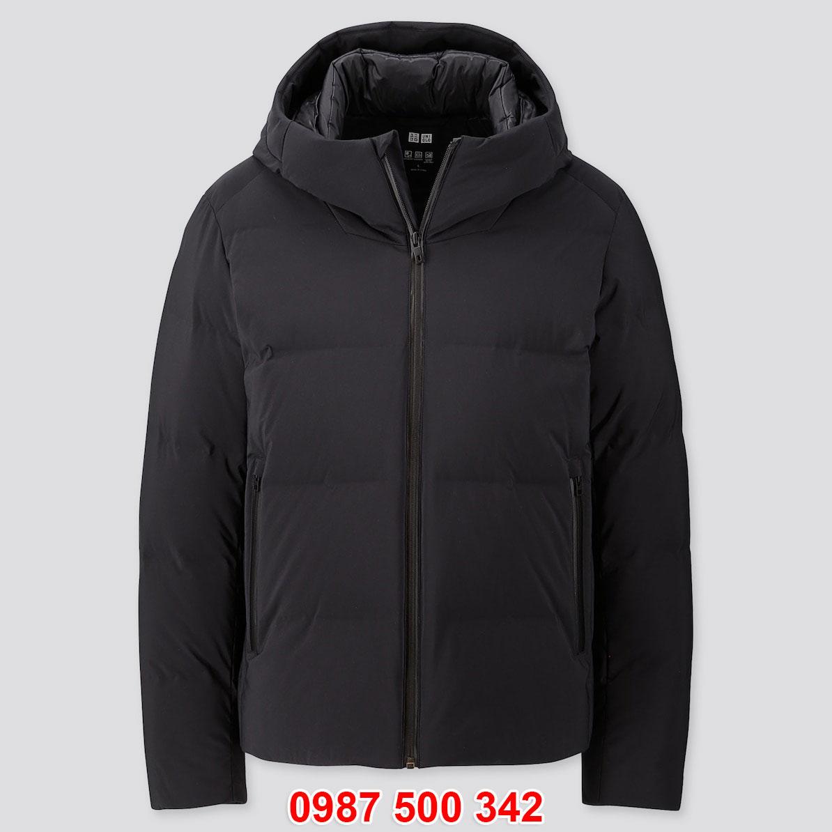 Áo phao lông vũ nam Uniqlo đại hàn dáng ngắn màu đen 09 BLACK 419989