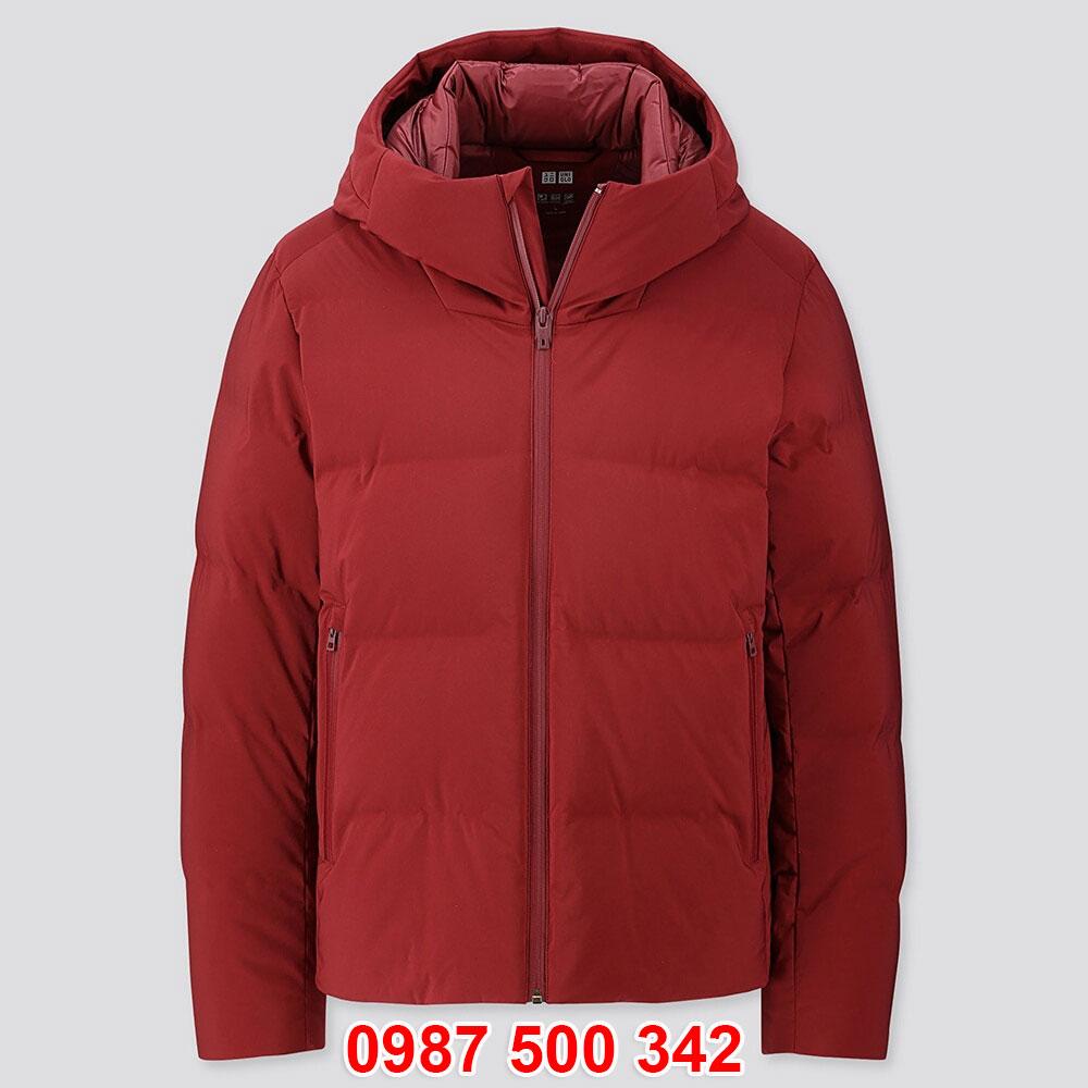 Áo phao lông vũ nam Uniqlo đại hàn dáng ngắn màu đỏ 17 RED 419989