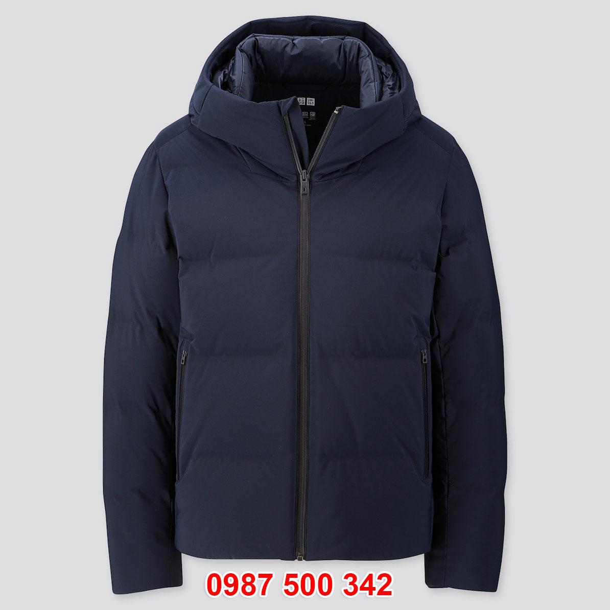 Áo phao lông vũ nam Uniqlo đại hàn dáng ngắn màu xanh đen 69 NAVY 419989
