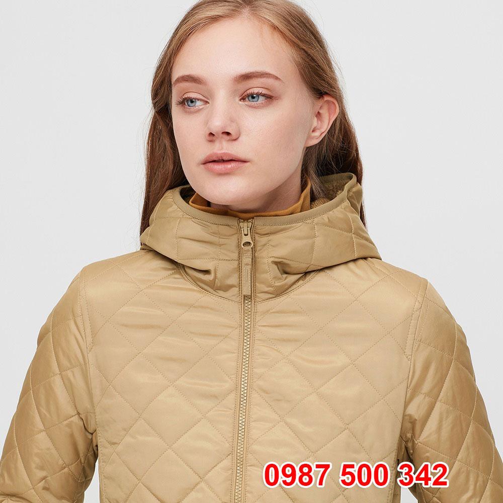 Cổ Áo khoác chần trám lót lông cừu Uniqlo 2020 - 2021 mã 432295