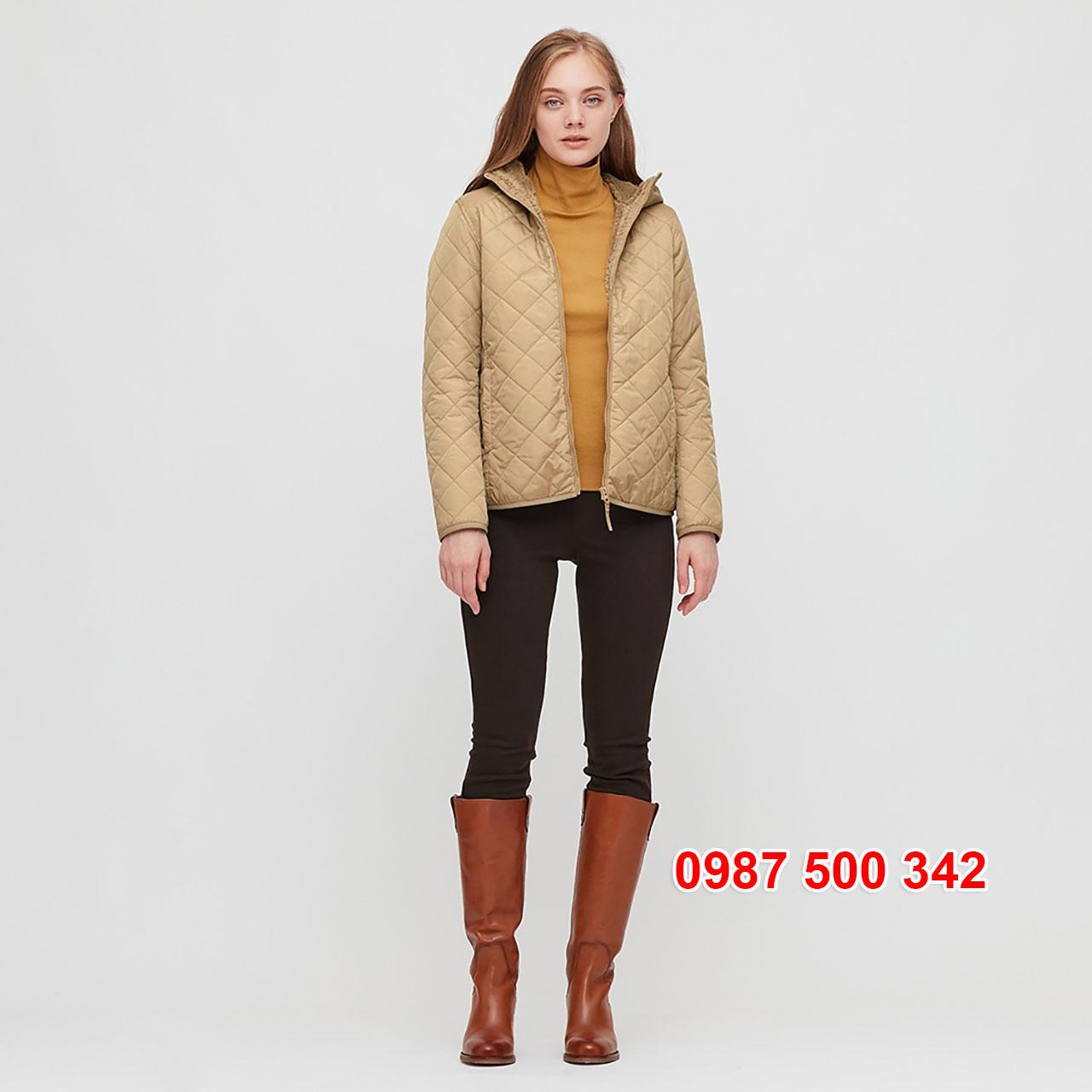 Dáng Áo khoác chần trám lót lông cừu Uniqlo 2020 - 2021 mã 432295
