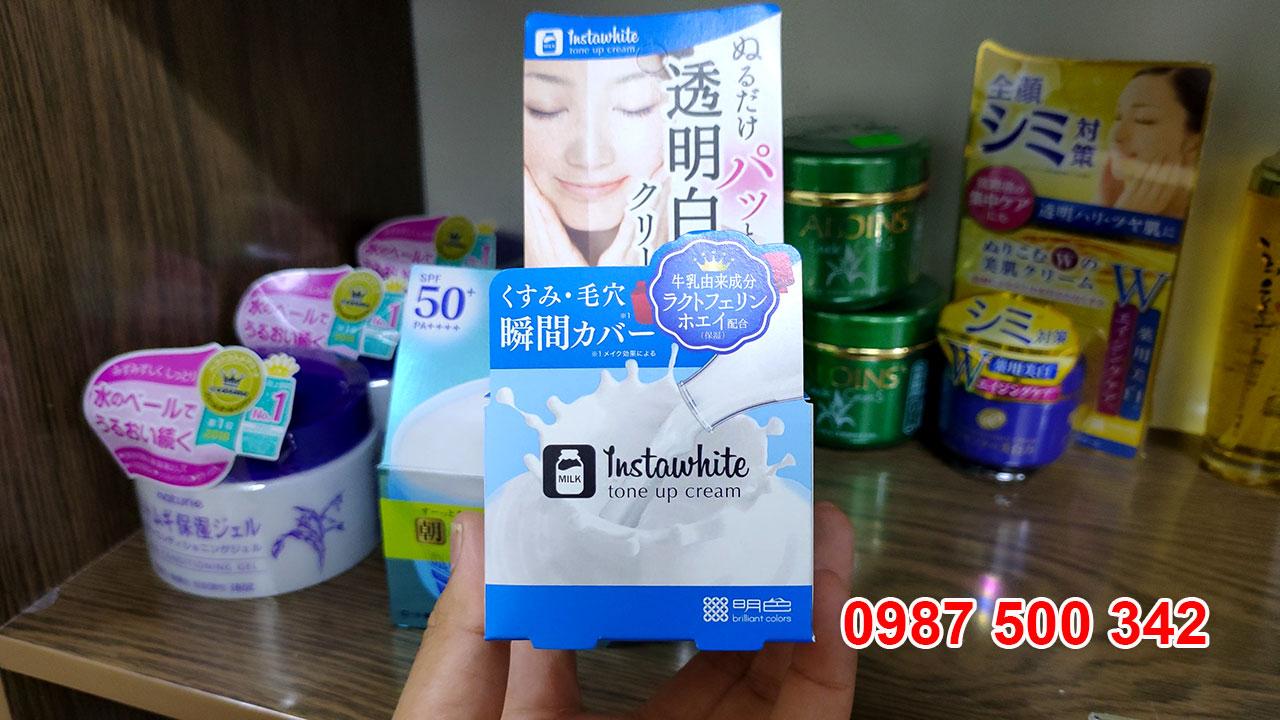Review Kem dưỡng trắng da Instawhite tone up cream Meishoku