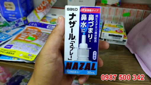 Xịt mũi Nazal dạng phun sương, nhanh chóng làm giảm các triệu chứng nghẹt mũi, sổ mũi, viêm mũi do tắc nghẽn mạch máu trong khoang mũi, thích hợp sử dụng cho người lớn và trẻ em trên 7 tuổi.