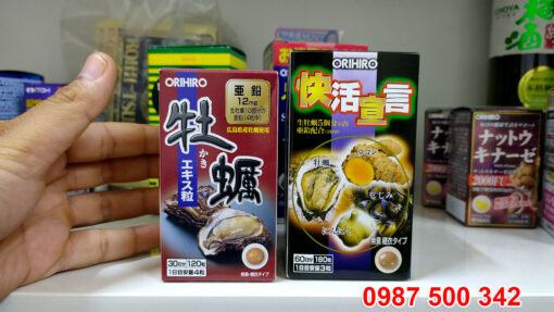 Tinh chất hàu nghệ tỏi Orihiro Nhật Bản có thêm: Nghệ, tỏi