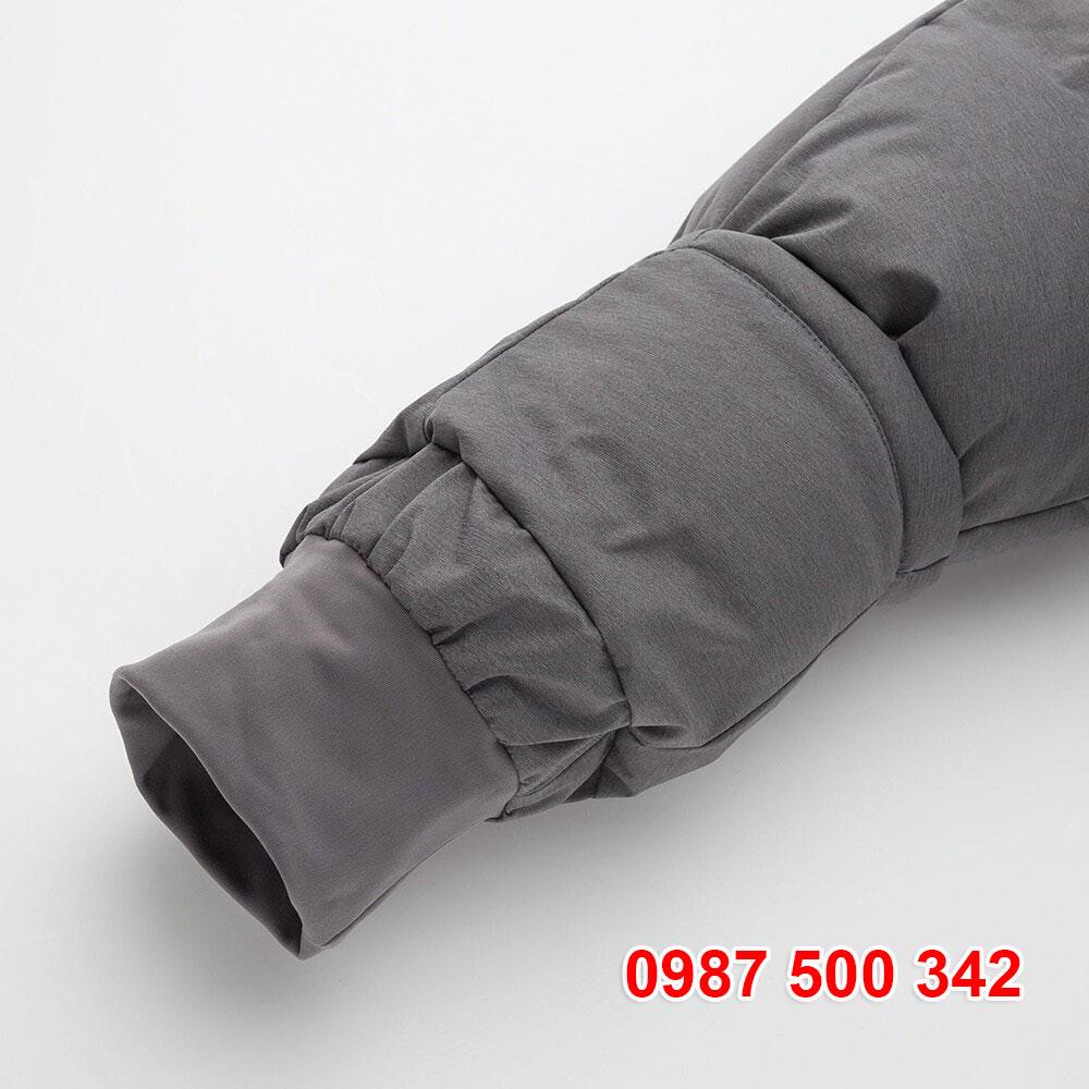 bên trong cổ tay áo lông vũ đại hàn có lót nỉ ngăn gió lùa vào tay áo