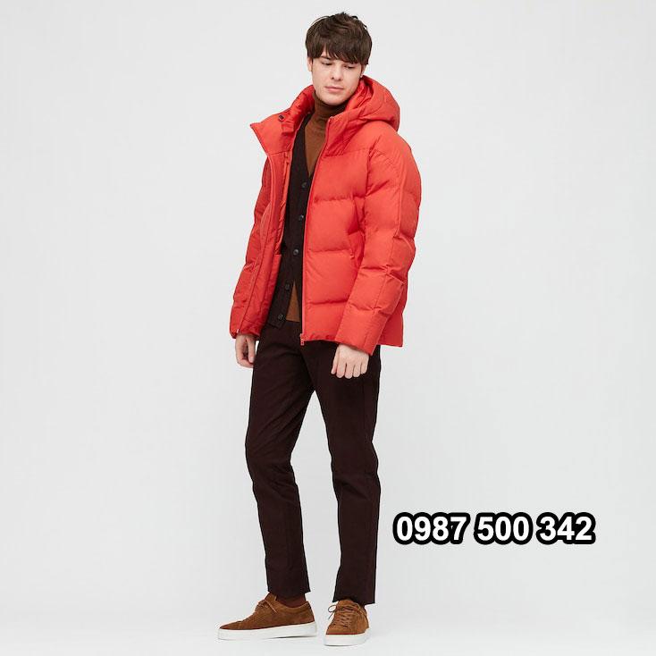 Áo lông vũ nam đại hàn Uniqlo 2020 màu cam 25 ORANGE 429291