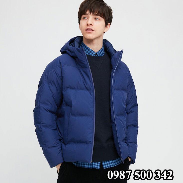 Áo lông vũ nam đại hàn Uniqlo 2020 màu xanh biển 67 BLUE 429291