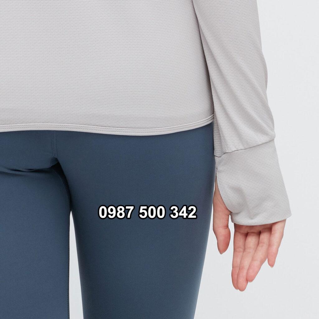 Chi tiết vạt áo và tay áo chống nắng Uniqlo 2021