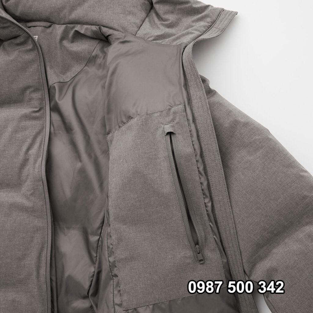 Túi trong Áo lông vũ nữ đại hàn dáng lỡ Uniqlo Seamless Down 429467