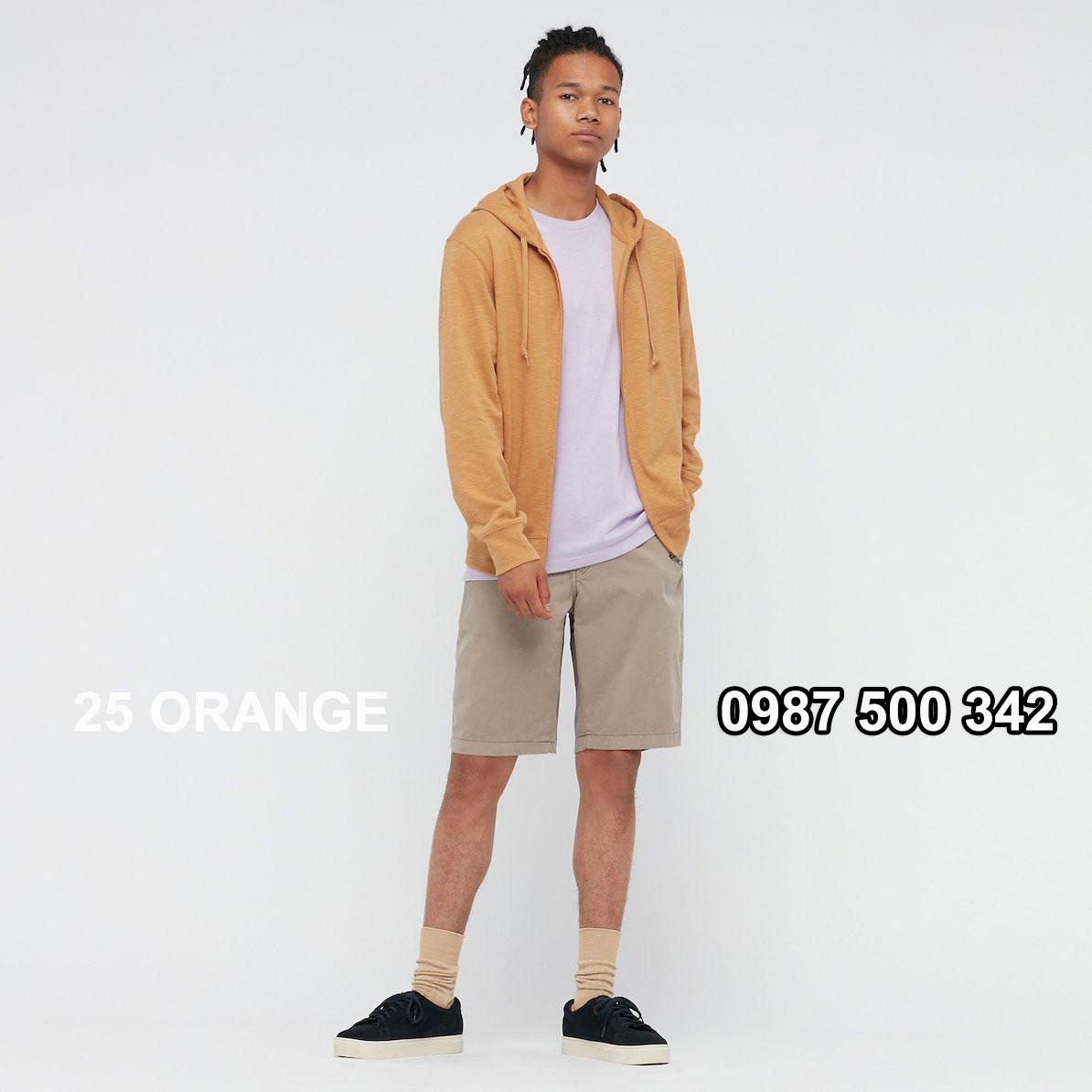 Áo chống nắng nam Uniqlo màu cam 25 ORANGE 433049