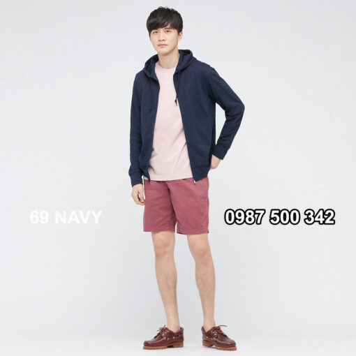 Áo chống nắng nam Uniqlo màu xanh đen 69 NAVY 433049