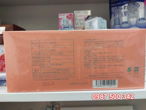 Thông tin mặt sau hộp Tinh chất serum nhau thai cuống rốn Royal Large Placenta Nhật Bản