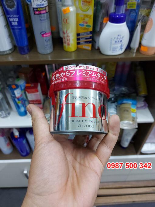 Trên tay Kem ủ tóc Fino Shiseido Premium Touch Nhật Bản