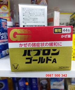 Thuốc cảm cúm Nhật Bản Taisho Pabron Gold A dạng bột 44 gói, đặc trị các bệnh thường gặp như cảm cúm, sốt, sổ mũi, ngạt mũi, ho, viêm phế quản