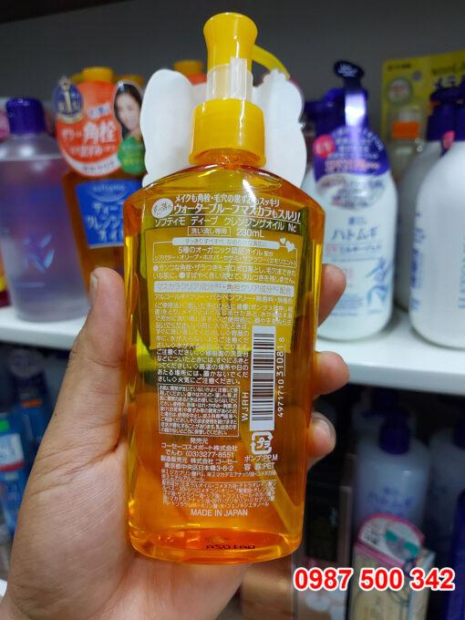Thành phần Dầu tẩy trang Kose Softymo DEEP Cleansing Oil 230ml