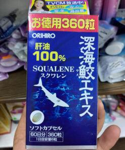 Hộp sụn vi cá mập Orihiro Squalene Nhật Bản 360 viên