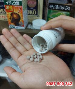 viên uống bổ não SBI ALApromo 90 viên Nhật Bản có vị hơi đắng, mùi thơm thảo mộc tự nhiên