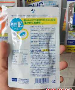 Thông tin sản phẩm Viên uống bổ sung vitamin E DHC Nhật Bản 60 viên