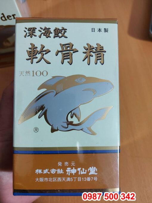 Trên tay sản phẩm Viên uống sụn vi cá mập Shark Cartilage Nhật Bản lọ 200 viên