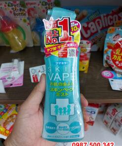 Xịt chống muỗi Skin Vape Nhật Bản 200ml màu xanh hàng chính hãng