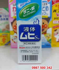 Mã vạch sản phẩm Lăn muỗi Muhi 50ml Nhật Bản cho bé từ 6 tháng tuổi