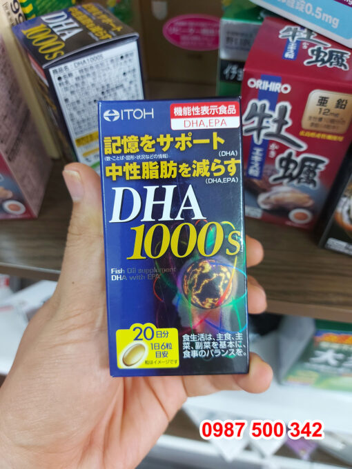 Review Viên uống bổ não Itoh DHA 1000s 120 viên Nhật Bản