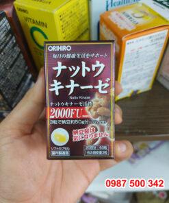 Review Viên uống chống đột quỵ Nattokinase 2000fu Orihiro 60 viên Nhật Bản