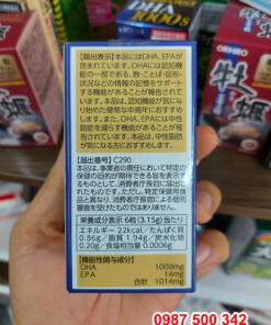 Thành phần Viên uống bổ não Itoh DHA 1000s 120 viên Nhật Bản