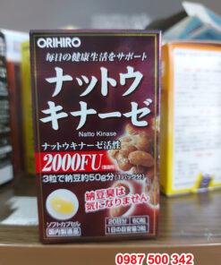 Viên uống chống đột quỵ Nattokinase 2000fu Orihiro 60 viên Nhật Bản