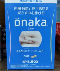 Viên uống giảm mỡ bụng Onaka Pillbox 60 viên